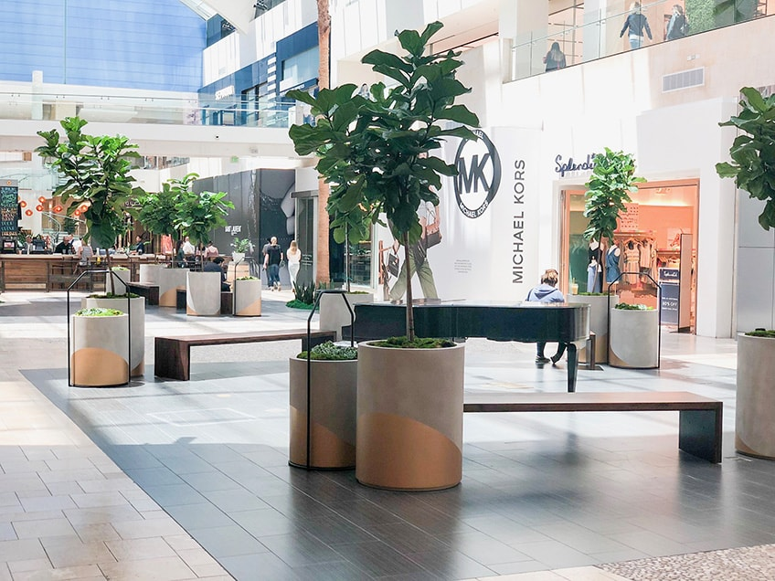 mall Interior plant service southern california 2