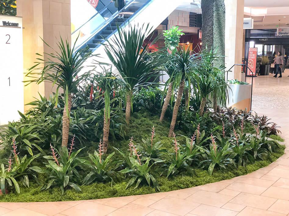 retail floral arrangement in mall